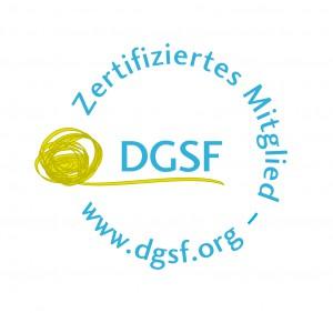 DGSF Siegel - Zertifiziertes Mitglied der Deutschen Gesellschaft für systemische Therapie, Beratung und Familientherapie
